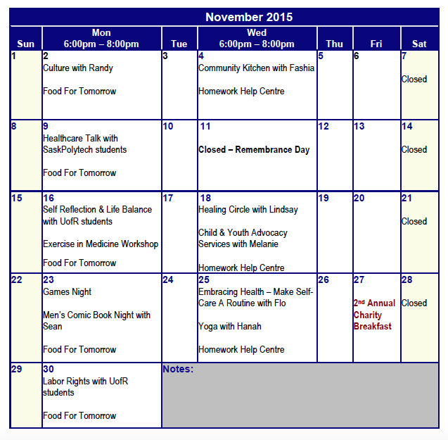November Programming at SWITCH