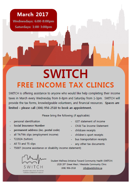 Tax Clinic Poster March 2017